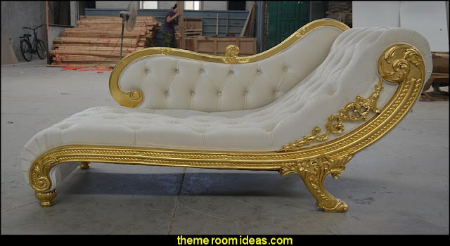Hand Carved Chaise Lounge   mythology theme bedrooms - greek theme room - roman theme rooms - angelic heavenly realm theme decorating ideas - Greek Mythology Decorations - heavenly wall murals - asngel wings decor - angel theme bedrooms