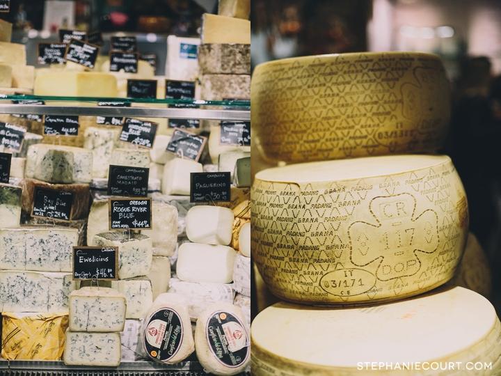 cheese display at Eataly New York City