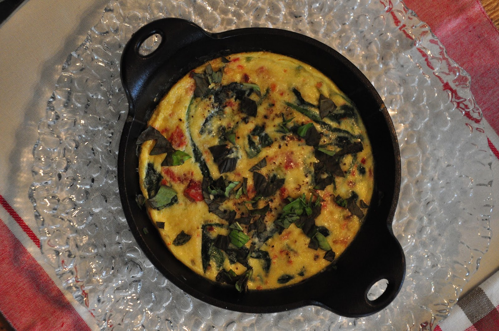 Bite Me: Spinach and Sun-dried Tomato Frittata