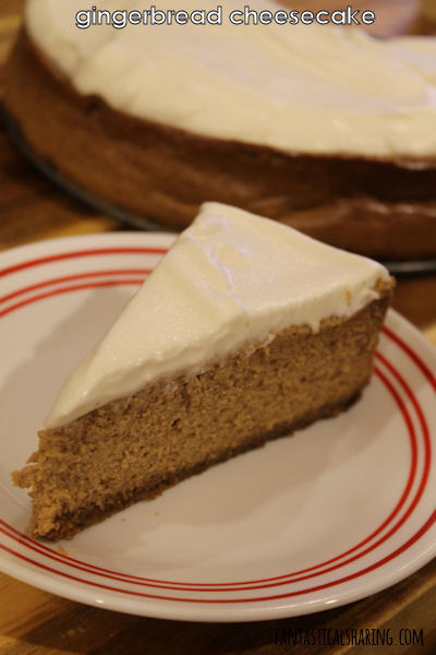 Fantastical Sharing of Recipes: Gingerbread Cheesecake