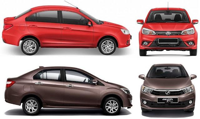 Perodua Bezza vs Proton Saga