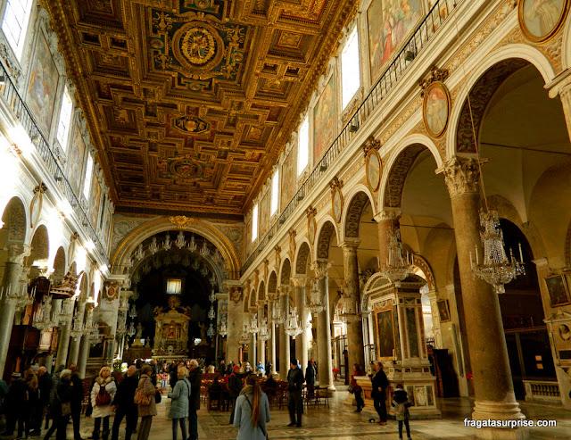 Interior da Igreja de Santa Maria in Aracoeli, Roma