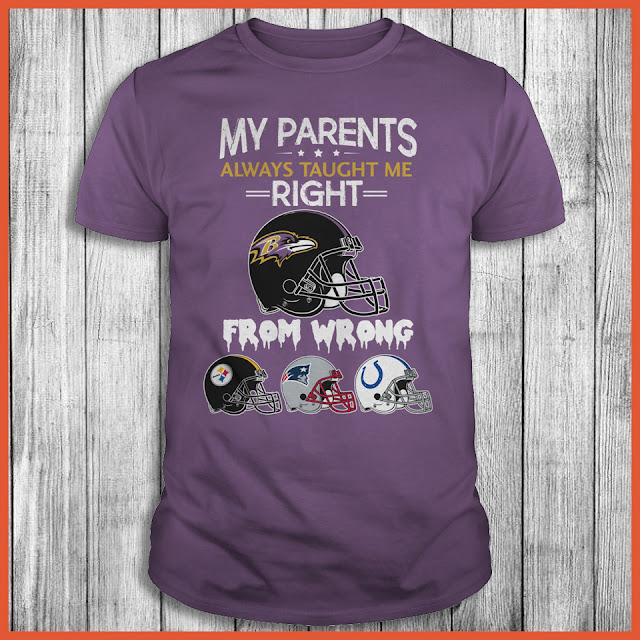 Baltimore Ravens - My Parents Always Taught Me Right From Wrong Shirt