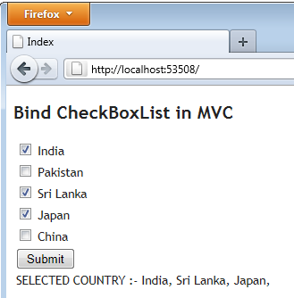 How to Bind CheckBoxlist By Model Data and Get Selected Value In