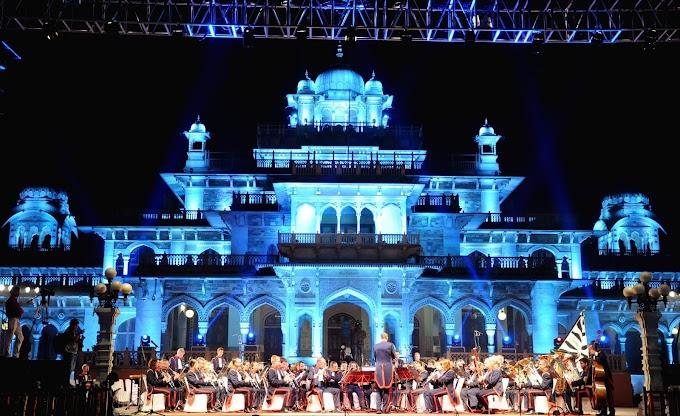 जयपुर में स्विट्ज़रलैण्ड के 'लैण्डव्येहर बैण्ड' ने दी मनमोहक प्रस्तुति