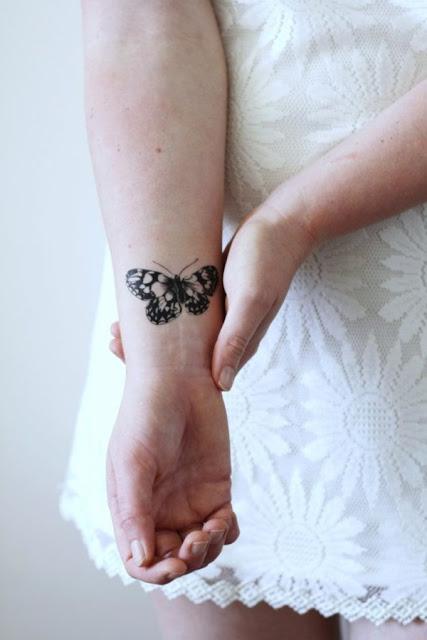 Tatuagens de borboletas para as mulheres