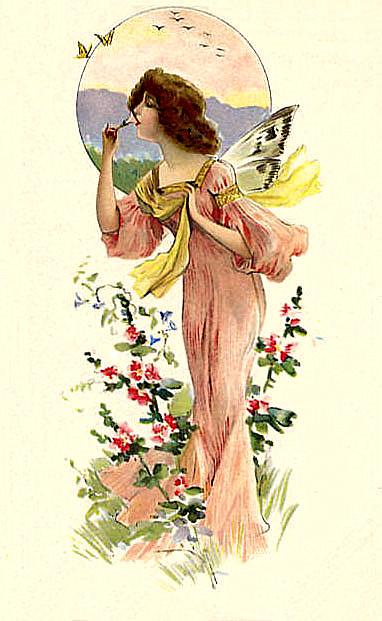 bumble button: Antique Victorian Fairy Postcards - Free ...