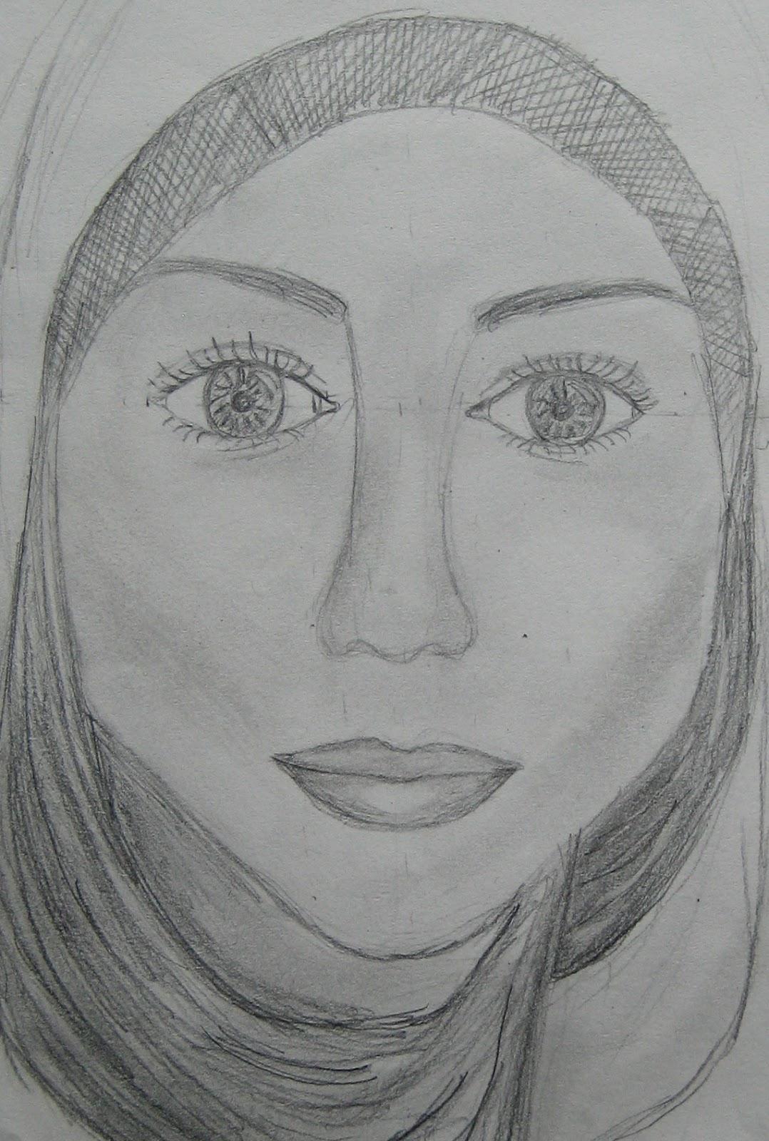 Student Artwork Year 9 Self Portraits