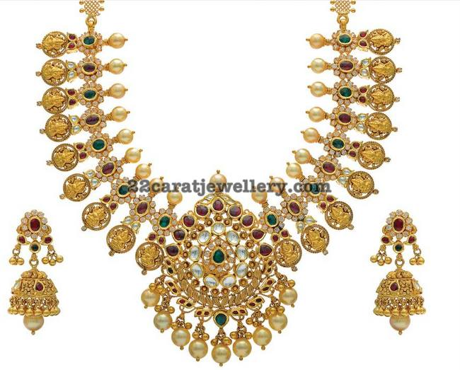 Lakshmi Necklace with Pachi Design