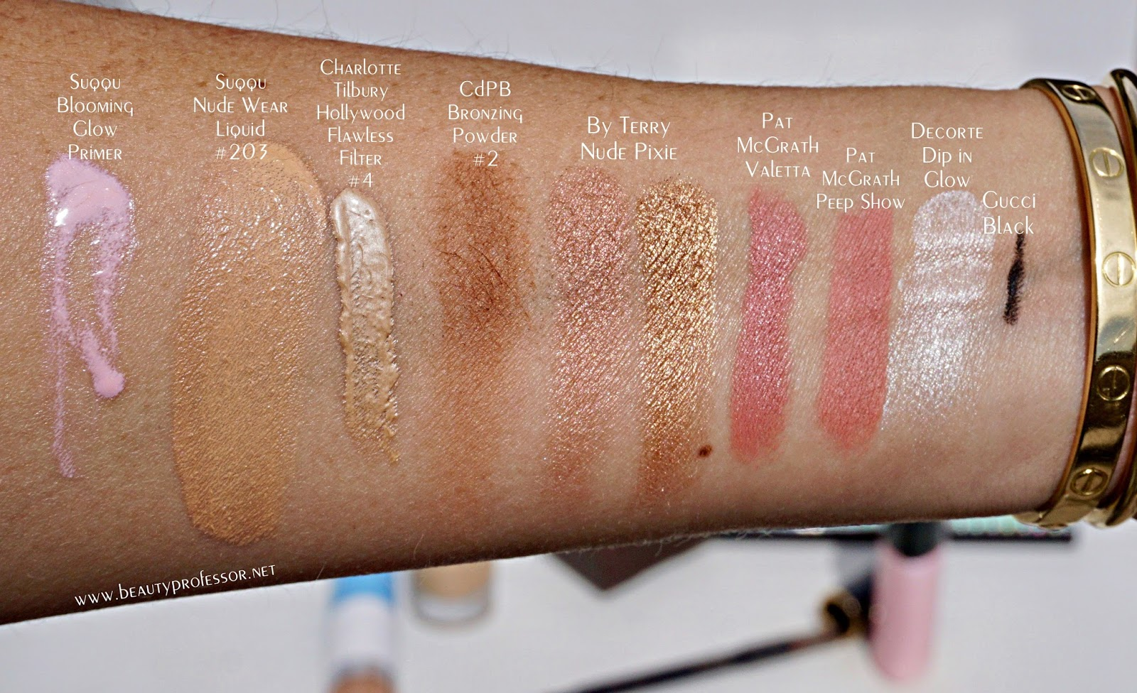 suqqu nude wear drops foundation swatches