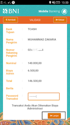 Cara Mudah ISI Saldo TCASH Wallet