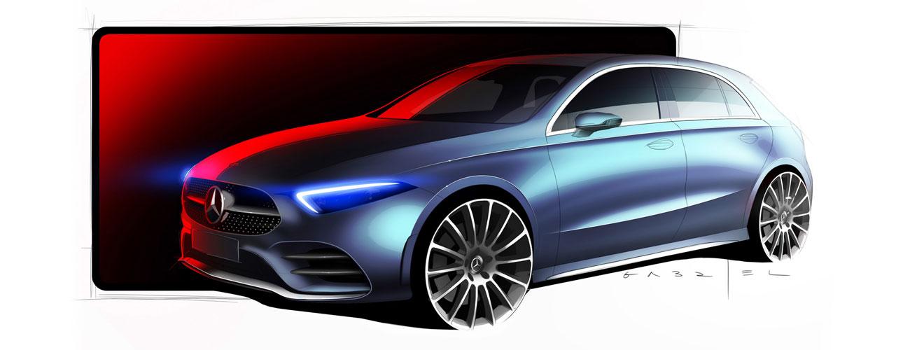 Mercedes A-Class sketch