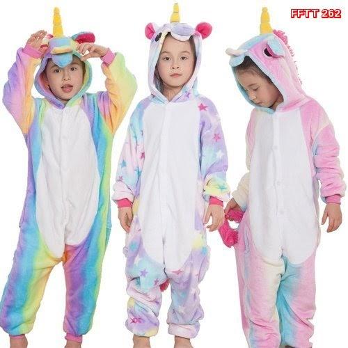 FFTT  262  Model Piyama Onesie Kostum Cosplay Bentuk Kid  Unicorn.. Murah BMGSHOP