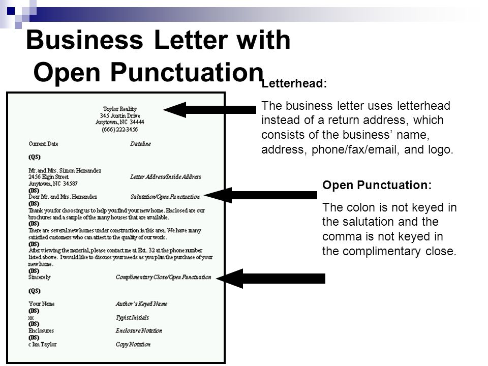 Punctuation Style Open Punctuation And Standard Or Mixed