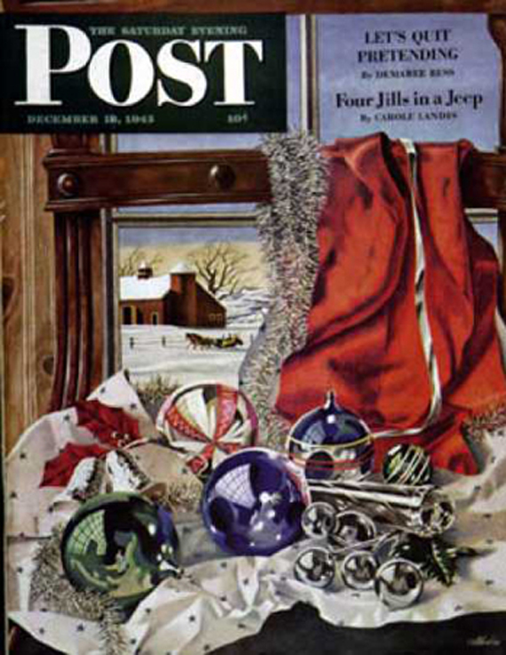 Christmas Saturday Evening Post vintage covers, John Atherton