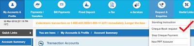 SBI Cheque Book online | Ways to request SBI Cheque Book online