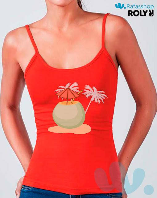 Camiseta Carina 6552 Roly Mujer Tirantes