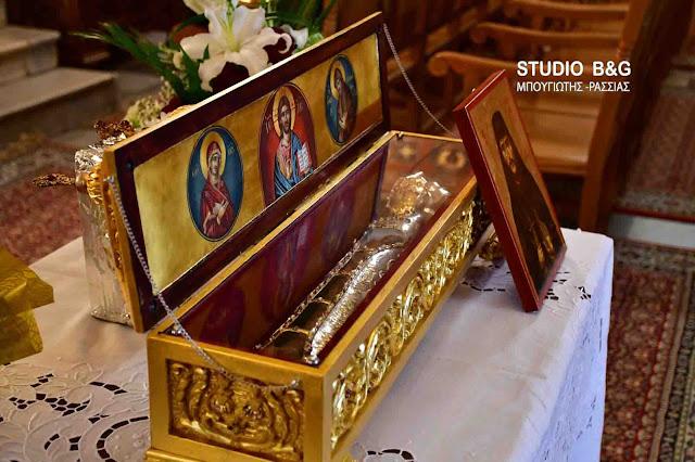 Το Ιερό Λείψανο του Αγίου Νικηφόρου του Λεπρού στον Μητροπολιτικό Ναό του Αγίου Γεωργίου στο Ναύπλιο