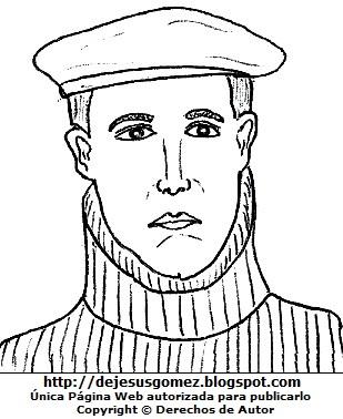 Dibujo de Jorge Chávez para colorear, pintar e imprimir. Ilustración de Jorge Chávez hecho por Jesus Gómez