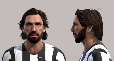 Download Face & Hair Andrea Pirlo PES 2013