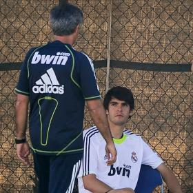 Kaka training under Mourinho attention
