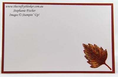 Vintage Leaves, Masculine card, Awesomely Artistic, Emboss Resist, #thecraftythinker, Stampin' Up Australia Demonstrator, Stephanie Fischer, Sydney NSW