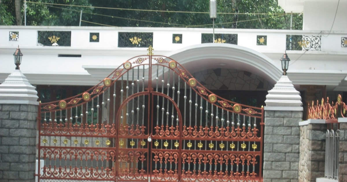 Home Design Gate Ideas: Kerala Gate Designs: Kerala House Gate With Golden And
