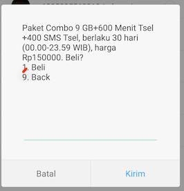 Paket Combo Telkomsel Termurah 9 GB Sebulan