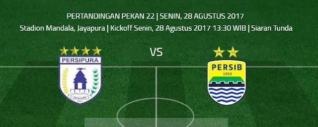 Jadwal Siaran Tunda Persipura vs Persib Bandung Pkl 18.30 WIB tvOne