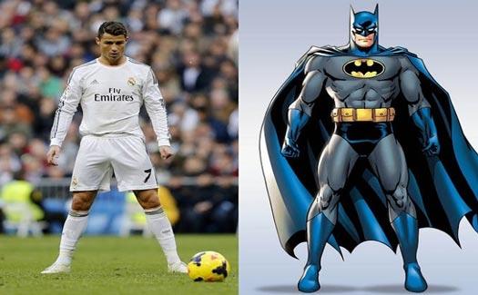 karakter superhero pemain bola