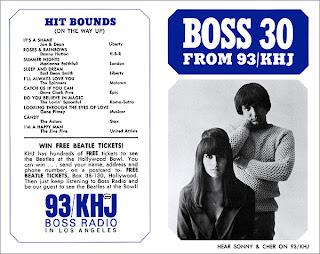 KHJ Boss 30 No. 3 - Sonny & Cher