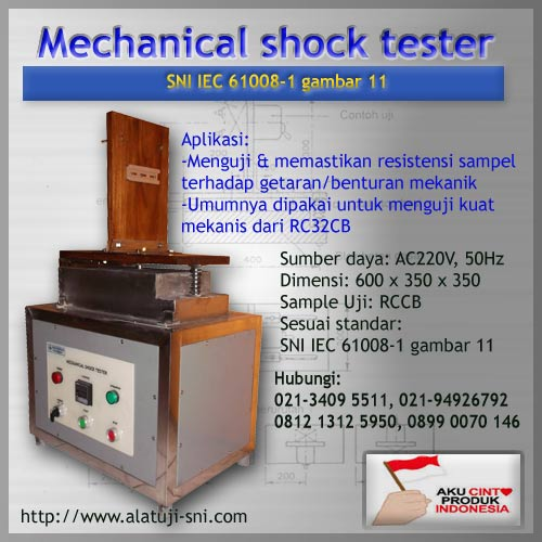 RCCB Mechanical Shock Tester - Test Equipment