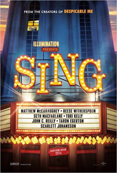 Sing Quem Canta Seus Males Espanta 2016 Poster Animação Comédia Musical