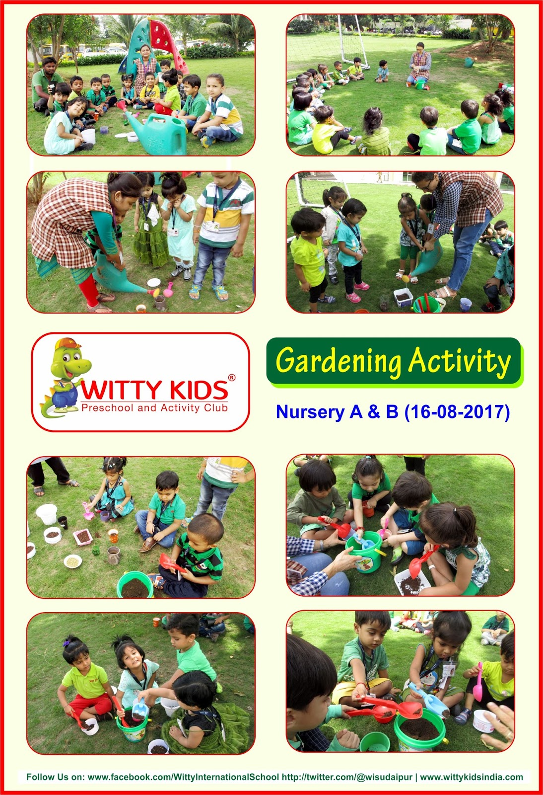 On the top of the World...: Green Day Celebrated by Nursery Students ...