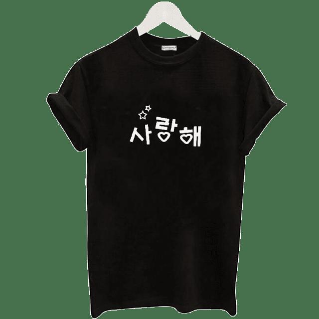 Saranghae Kpop Bayan Tişört