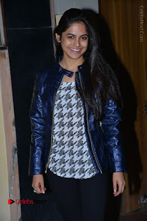 Actress Nanina Ganguly Stills in Black Tights with Vangaveeti Movie Team at Devi Theater  0018.JPG