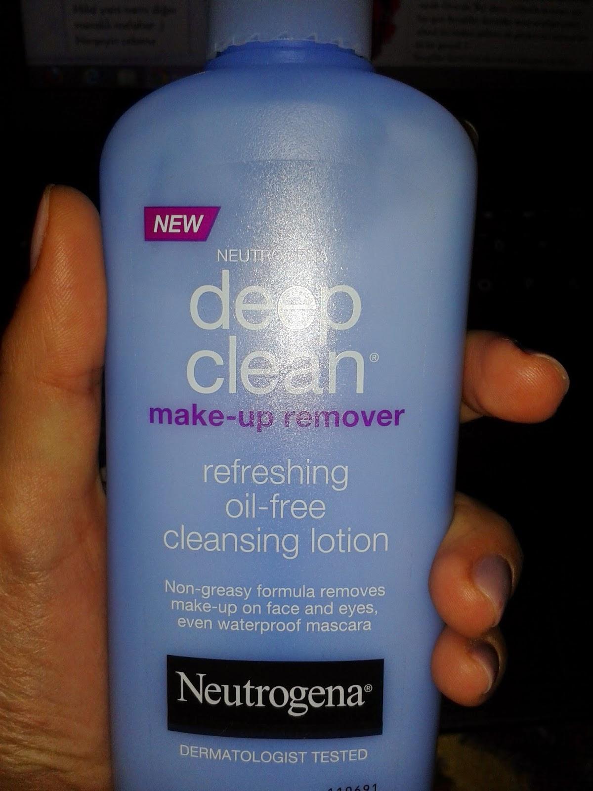 neutrogena makyaj temizleme sütü