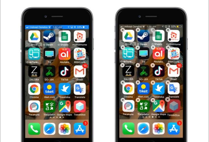 Cara memindahkan beberapa aplikasi sekaligus di iPhone 1