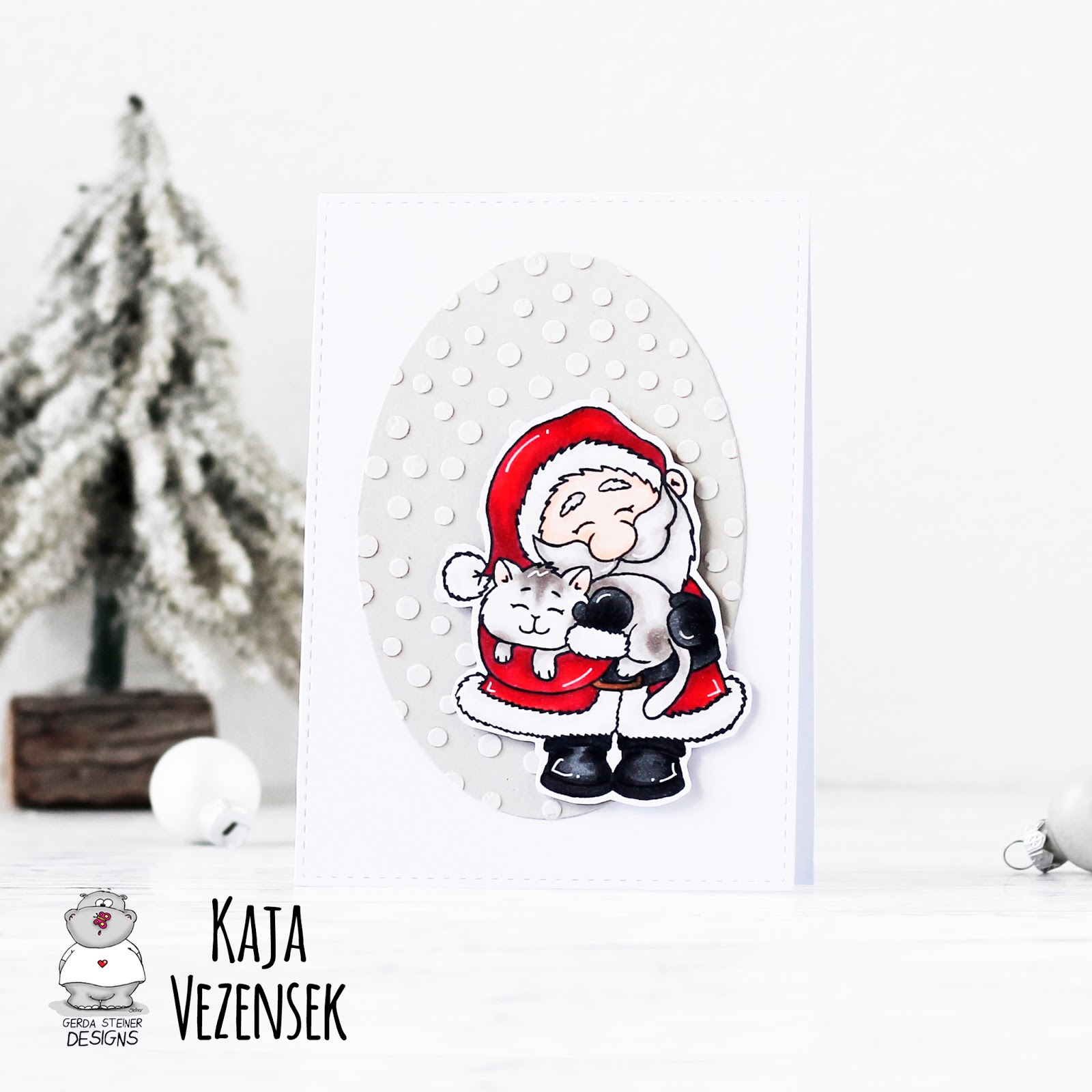 Santa and a kitten | GERDA STEINER