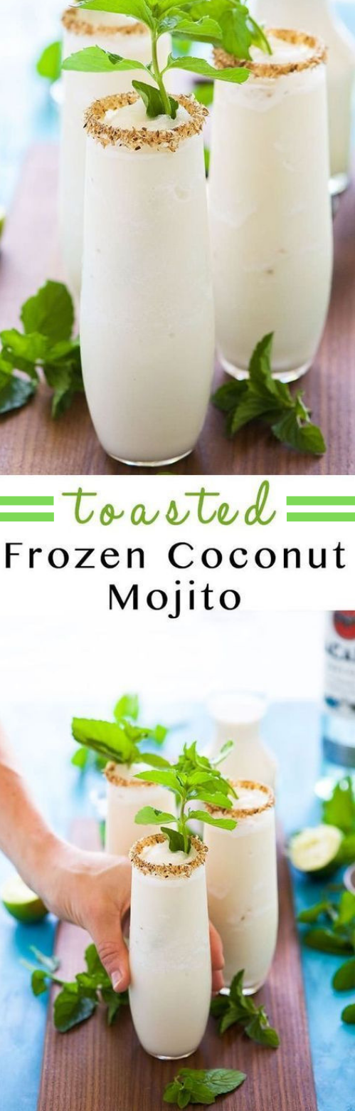 Toasted frozen coconut mojito #coconut #mojito
