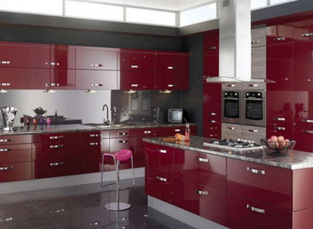 contoh desain interior kitchen set modern idaman