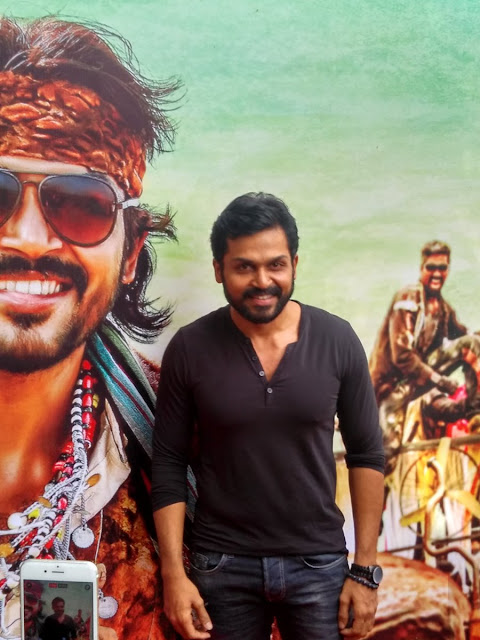 Karthi at Kaashmora Tamil Audio Launch press meet