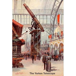 Yerkes 40 inch telescope at 1893 Worlds Fair in Chicago