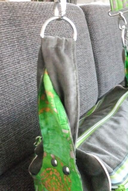 Zylindertasche grün