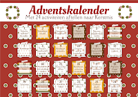 Adventskalender gratis printable