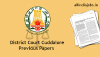 District Court Cuddalore Office Assistant Previous Papers