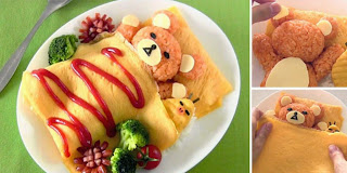 Cara membuat kreasi makanan lucu berbentuk beruang