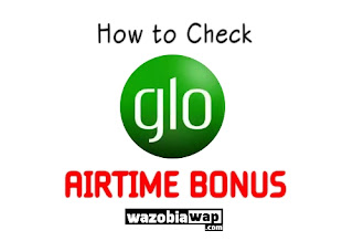 how to glo airtime bonus balance