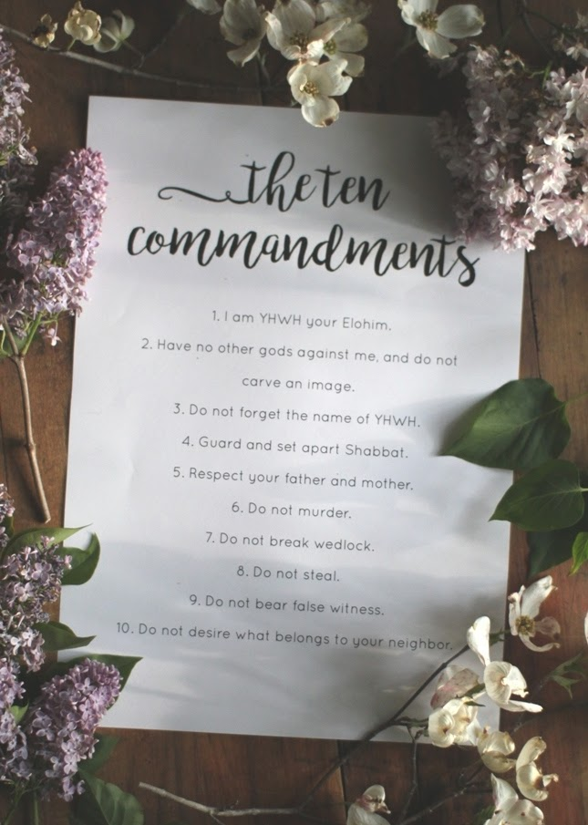 Free Ten Commandments Printable | Land of Honey