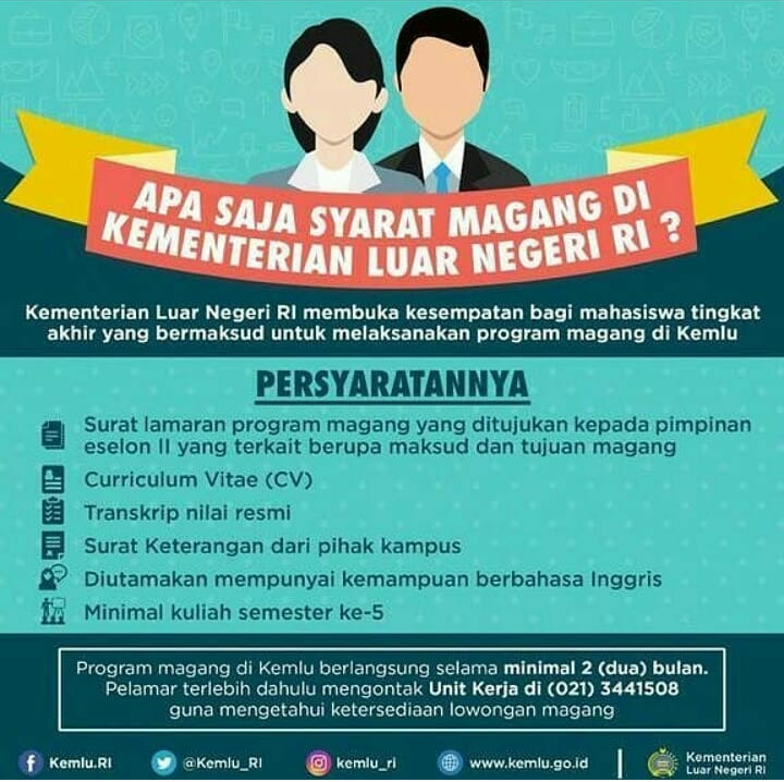 Program Magang Kerja di Kementerian Luar Negeri Untuk Mahasiswa Semester 5